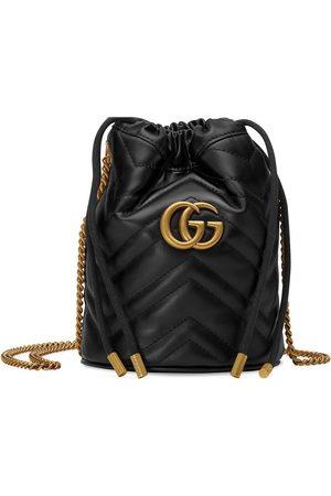 Gucci GG Marmont liten bucket-väska