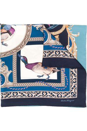Salvatore Ferragamo Heritage fyrkantig mönstrad sjal