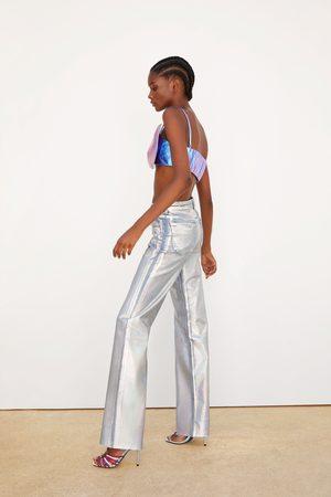 Zara Regnbågsskimrande jeans wide leg