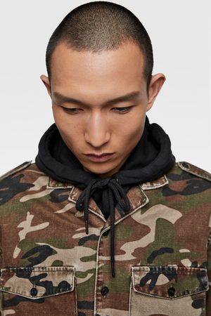Zara Kamouflagemönstrad skjortjacka