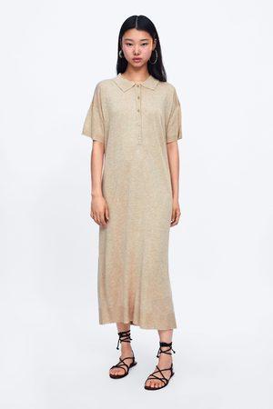 Zara Lång stickad klänning