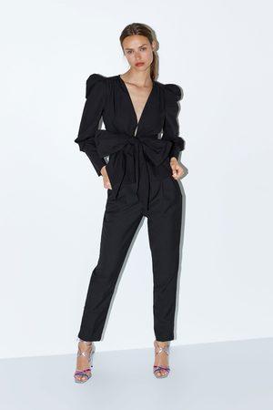 Zara Kvinna Jackor - Jacka med rosett och puffärm