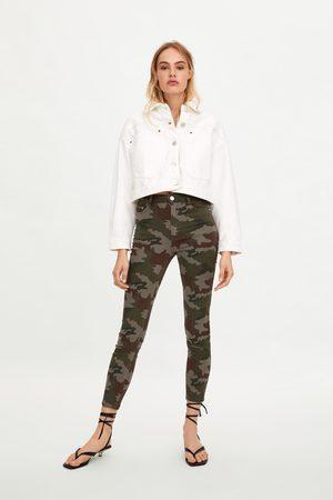 Zara Kamouflagemönstrade skinny-jeans