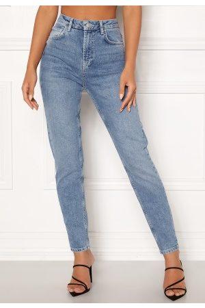 Pieces Leah Mom HW Ankle Jeans Light Blue Denim L
