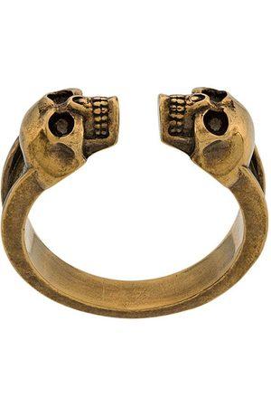 Alexander McQueen Graverad ring med dödskalle