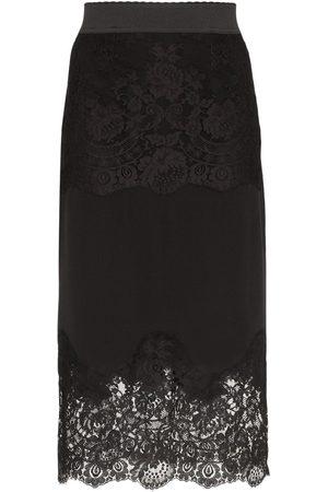 Dolce & Gabbana Pennkjol med spetsinlägg