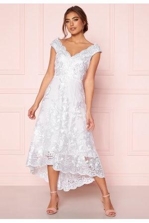 Goddiva Embroidered Lace Dress White L (UK14)