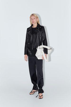 Zara Bikerjacka med lädereffekt