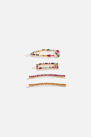 Zara Pack hårspännen med flerfärgat glitter