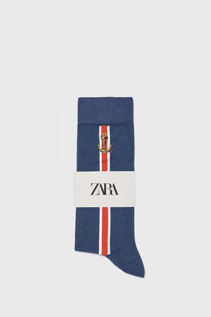 Zara Merceriserade strumpor med seglarmotiv