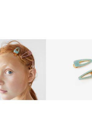 Zara Kvinna Håraccessoarer - Tvåpack hårspännen med glitter