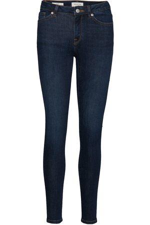 Selected Kvinna Skinny - Slfida Mw Skinny Dark Blue Jeans W Noos Skinny Jeans