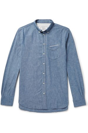 OFFICINE GENERALE Man Casual - Cotton-chambray Shirt