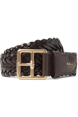 MULBERRY 4cm Woven Leather Belt