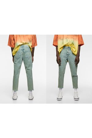 Zara Jeans i slim-modell acid wash