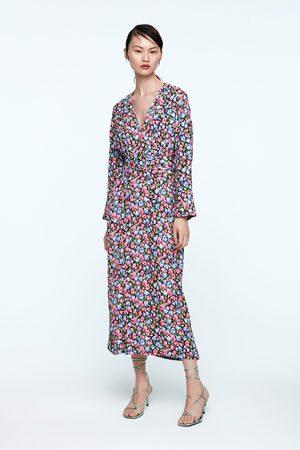 Zara Mönstrad klänning med bälte
