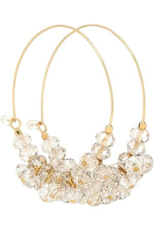 Isabel Marant Kvinna Örhängen - Polly embellished hoop earrings