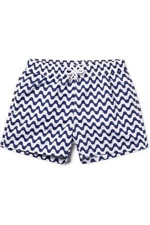 Frescobol Carioca Man Badshorts - Copacabana Slim-fit Short-length Printed Swim Shorts