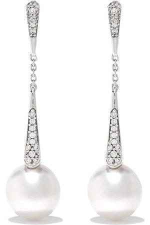 Yoko London Kvinna Örhängen - Trend diamantörhängen i 18K guld