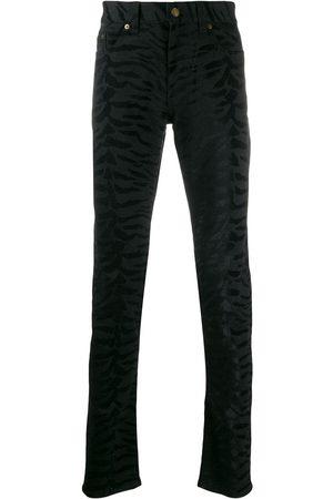Saint Laurent Zebramönstrade skinny-jeans