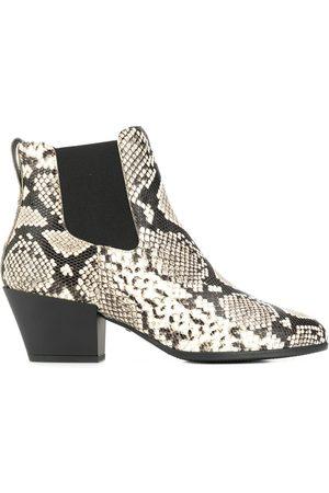 Hogan Snakeskin-print ankle boots