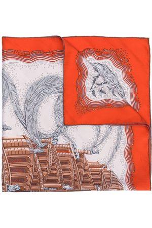 Hermès Sjal med tryck från 1990-talet