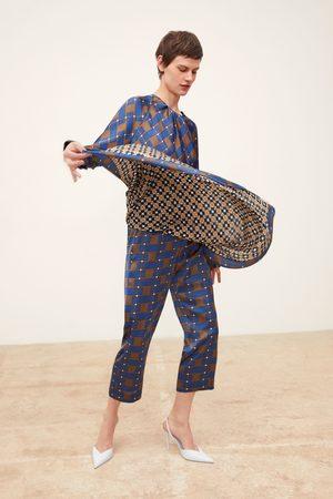 Zara Sarongbyxa med kombinerade mönster