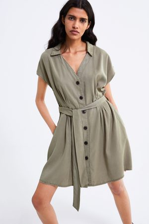 Zara Kvinna Jeanskjolar - Denimkjol med bälte