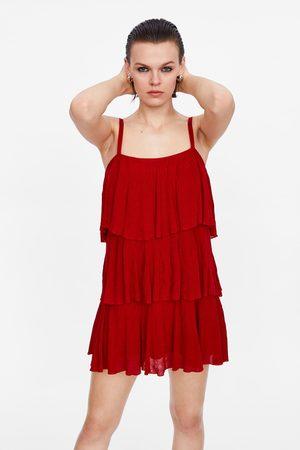 Zara Knit dress with ruffles