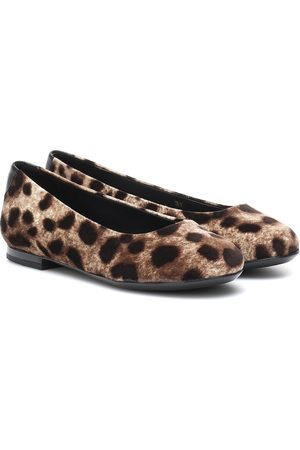 Dolce & Gabbana Flicka Ballerina - Leopard-print velvet ballet flats