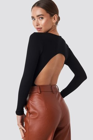 NA-KD Kvinna T-shirts - Open Back Bodysuit
