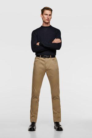 Zara Kvinna Slim & Skinny byxor - Skinny-byxa i färg