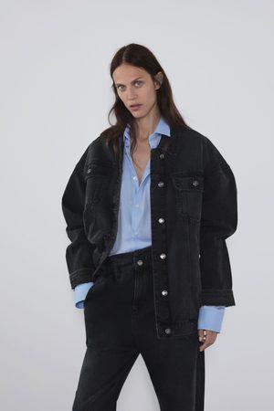Zara Oversize-denimjacka med revor