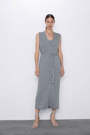 Zara Stickad klänning med väst