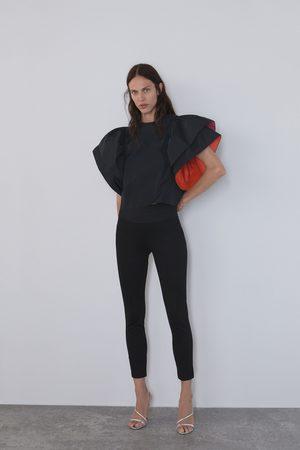 Zara Leggings med bred linning