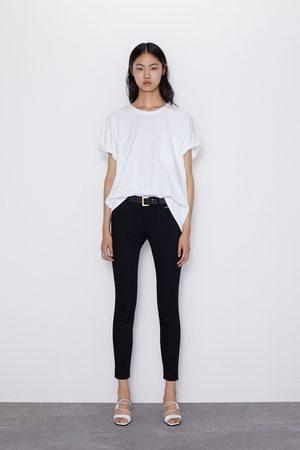 Zara Skinny-jeans z1975 mid rise med sömmar
