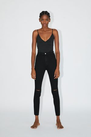 Zara Jeggings hi rise super elastic med revor