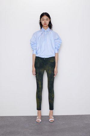 Zara Batikmönstrade skinny-jeans z1975 med medelhög midja