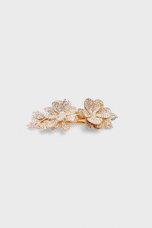Zara Hårspänne med blanka blommor