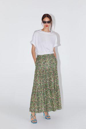 Zara Lång mönstrad kjol