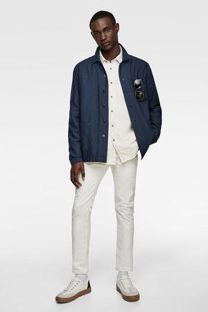 Zara Blekt skjortjacka med struktur