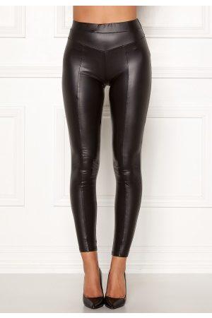 Ax Paris Faux Leather PU Leggings Black M/L