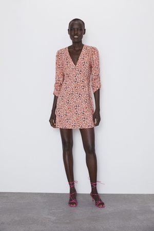 Zara Mönstrad miniklänning