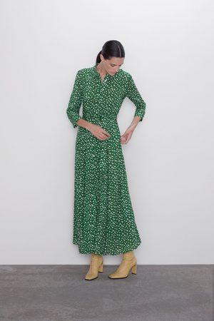 Zara Lång mönstrad klänning
