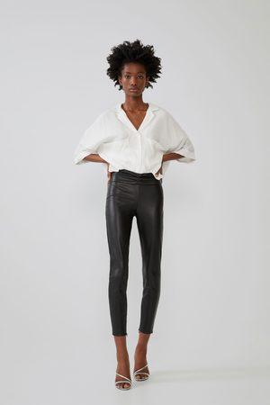 Zara Leggings med lädereffekt