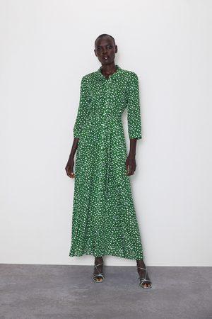 Zara Kvinna Mönstrade klänningar - Lång mönstrad klänning