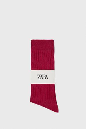 Zara Ribbstickad och merceriserad strumpa