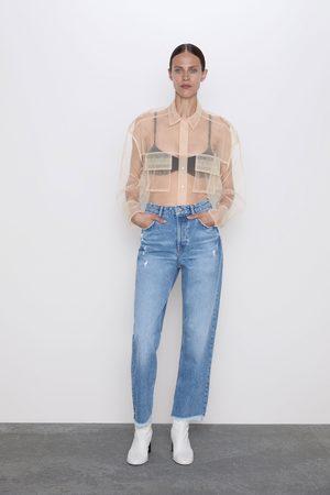 Zara Kvinna Straight - Jeans z1975 hi-rise straight revor