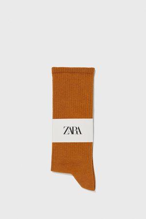 Zara Kvinna Strumpor & Sockar - Ribbstickade strumpor
