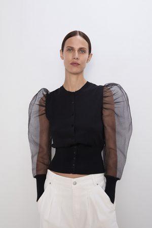 Zara Kvinna Jackor - Jacka med volymärmar i organza